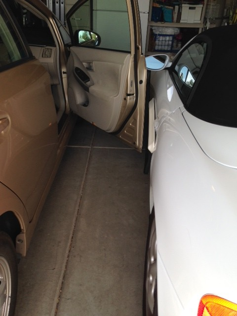 DoorShield works perfect in our two car garage. Now we don't cringe every time someone opens the Prius door. Thank you. Works for us!